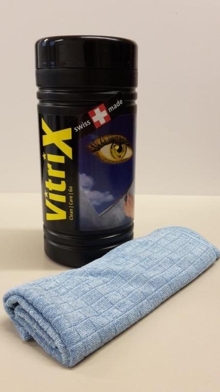 Čistiace utierky v praktickom boxe Amstutz Vitri X