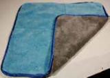 Mikrovláknová obojstranná utierka modro-sivá s lemom Lemmen 7X5083, fotografie 1/1