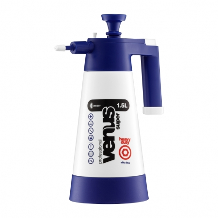 Tlakový postřikovač na čištění interiéru, exteriéru Kwazar Venus modrý 1,5 l  pro neutrální a  alkalické výrobky 26150