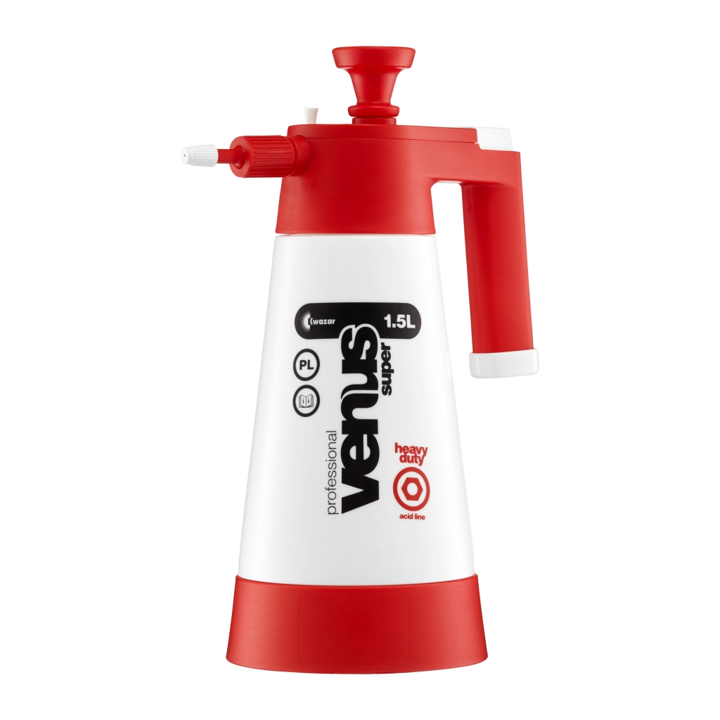 Tlakový postřikovač Kwazar VENUS červený 1,5l pro kyselé výrobky 26182