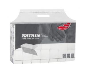 Papierové uteráky skladané Katrin Plus ZZ II.vrst.utěrky biela buničina 100645