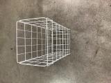 Kôš odpadový NORDVLIES biely kovový sklopný 098430, fotografie 1/1