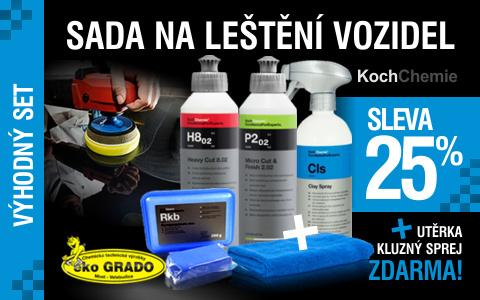 Sada na leštění vozidel Koch 3+3 výrobky Zdarma
