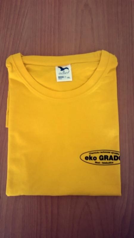 Firemné tričko žlté