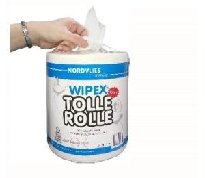 Papírové utěrky v roli Nordvlies Wipex Tolle Rolle bílé 3480