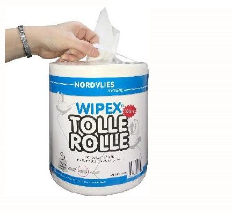 Papierové utierky v roli NORDVLIES Wipex Tolle Rolle biele 3480