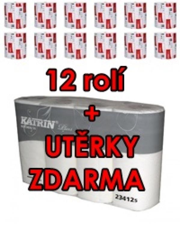 AKCIA Zásobník papierových utierok KATRIN 90045 plus 2x6 rolí 46010