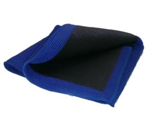 Mikroleštící utierka Amstutz modro-čierna, pogumovaná 5149
