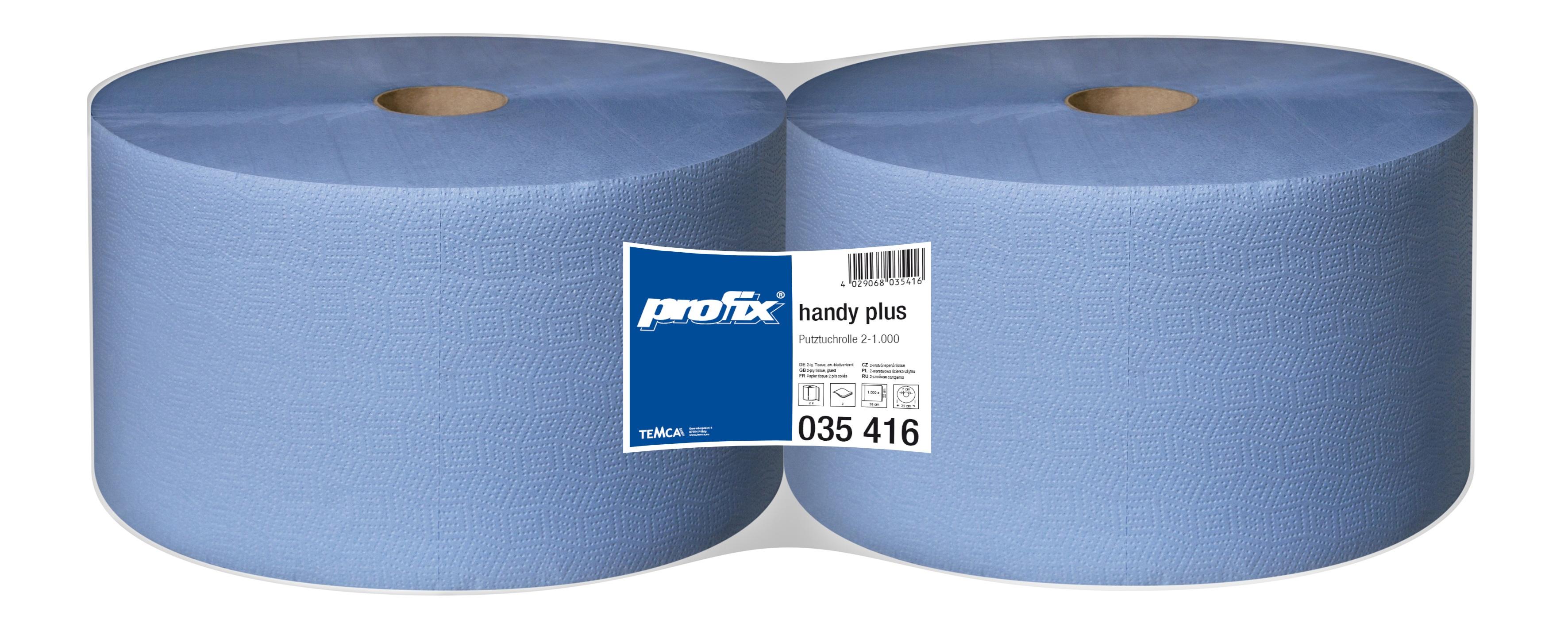 Papírové utěrky v roli Temca T035416, 2-vrstvé, 22x36 cm