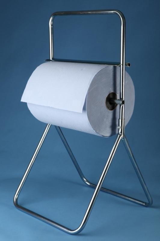 Stojan podlahový na role papiera chrómový - 0969, šírka 40 cm