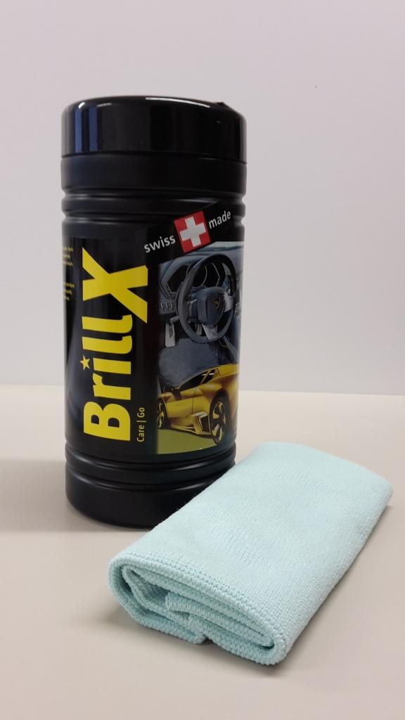 Čistící utěrky v praktickém boxu Amstutz Brill X